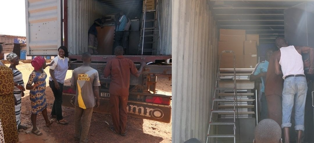 Container arrived in Burkina Faso