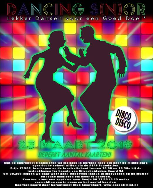 Komt u op 23 maart ook dansen in Amersfoort voor stichting ASAP?